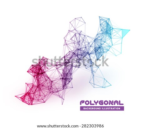 Abstract network data connection. Technology background on white - stock photo