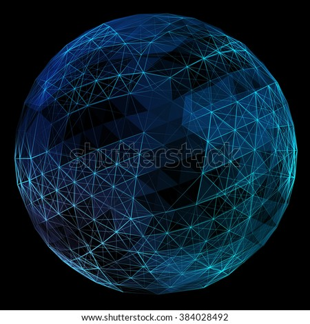 Abstract network globe. - stock photo
