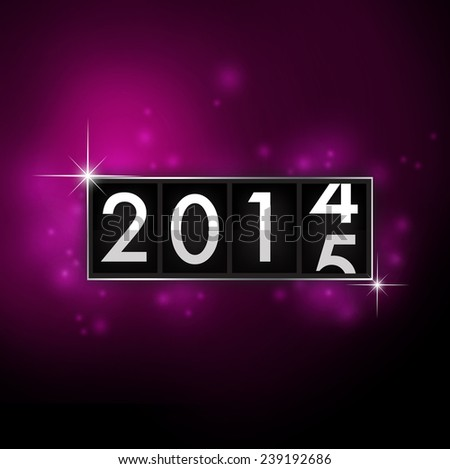 Abstract New Year 2015 analog countdown counter board - stock photo