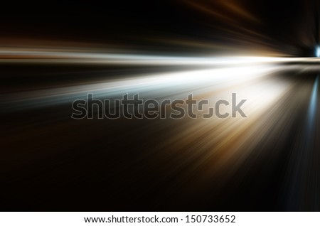 Abstract night acceleration Speed in motion  - stock photo