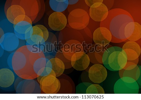 Abstract night blurred bokeh background