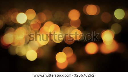 Abstract night traffic bokeh background with defocused lights. - stock photo