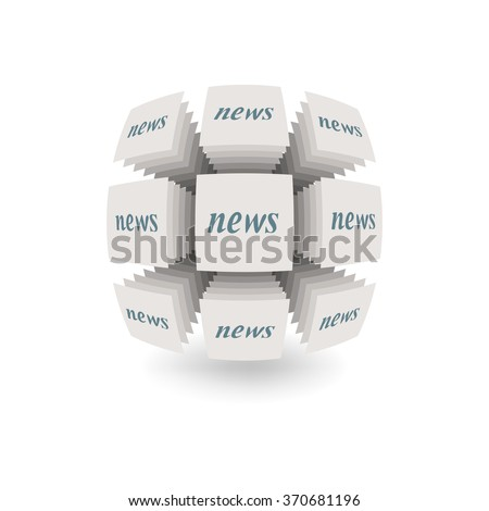 Abstract object on a white background. Symbolizes the dissemination of news. EPS version is available as ID 350344049. - stock photo
