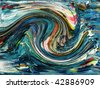 Abstract ocean waves. - stock photo