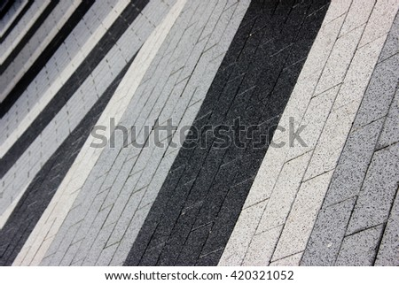 Abstract of a multi toned pedestrian pavement or walk way
