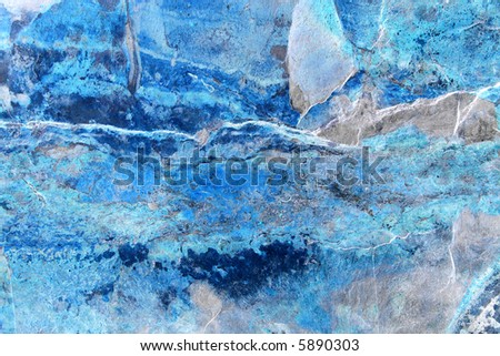 Abstract of a slab of slate with ice blue hues. - stock photo