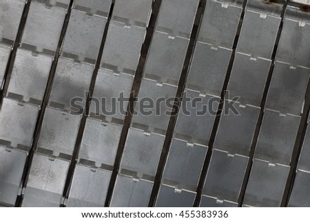 abstract of aluminum casting texture for background used