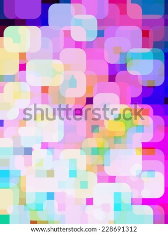 Abstract of city lights at dusk, with illusion of three dimensions - stock photo