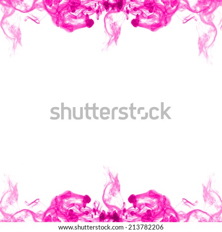 Abstract of color smoke on white background