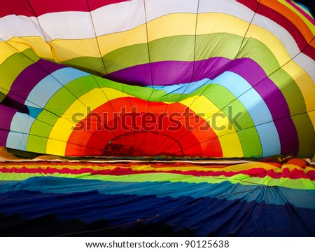 Abstract of Colorful balloon inside - stock photo