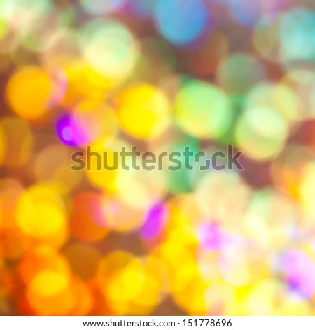 Abstract of glowing colorful bokeh background