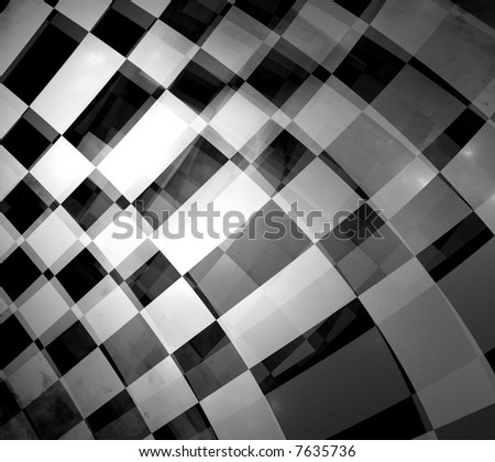 abstract of moving checkered flag - stock photo