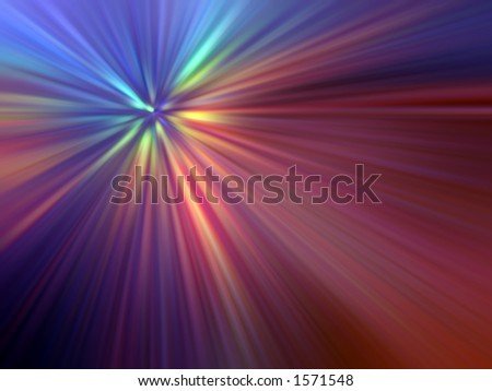 Abstract of Multicoloured Light Rays - stock photo