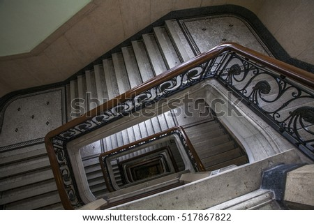 Abstract of spiral staircase background picture architectural element of a historic building