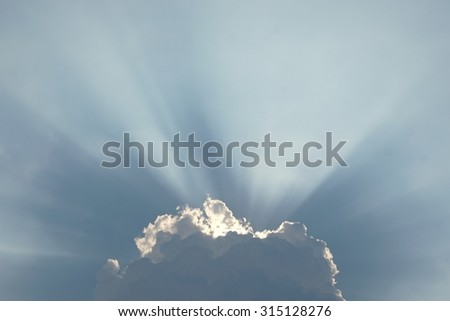 abstract of sunburst in cloud for background used
