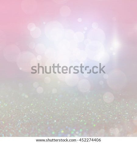 Abstract of sweet pastel Bright and sparkling bokeh background. Colorful bokeh -blurred lighting from glitter texture. Luxury design background.