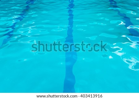 Abstract of swimming pool water surface.