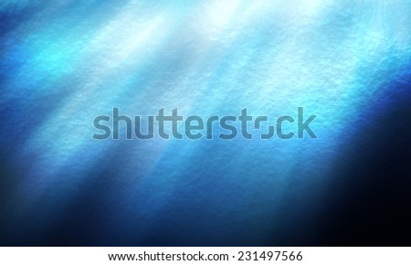 abstract of textures deep blue sea and lights underwater