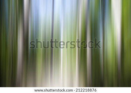 Abstract of trees in a forest with altered colors,zen meditation background - stock photo