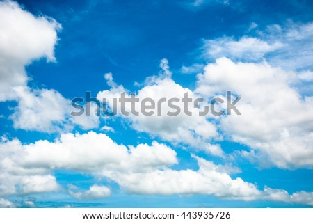 abstract of white cloud and blue sky background