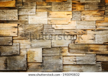 abstract of wood shingles background - stock photo