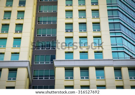 abstract office building - stock photo