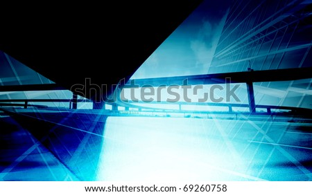 Abstract office building background - stock photo