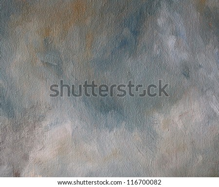 Abstract oil stains on canvas background - stock photo