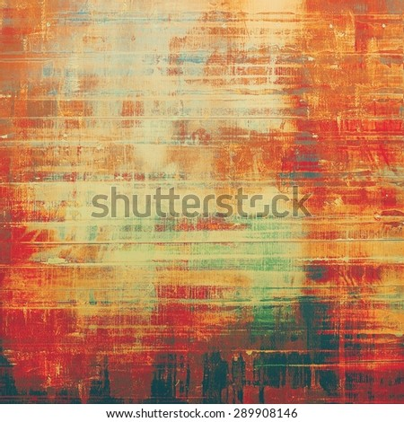 Abstract old background or faded grunge texture. With different color patterns: yellow (beige); brown; green; red (orange) - stock photo