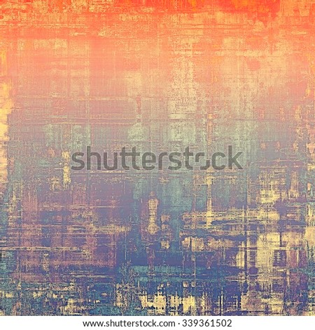 Abstract old background or faded grunge texture. With different color patterns: yellow (beige); blue; purple (violet); red (orange) - stock photo