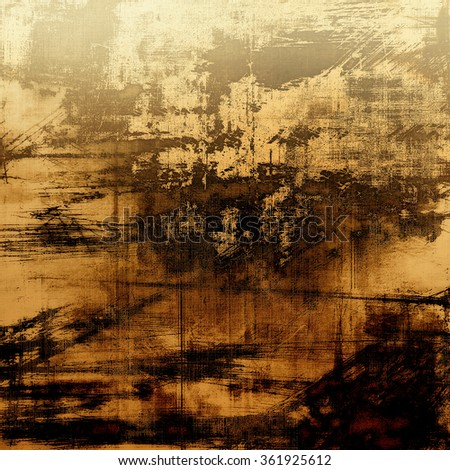 Abstract old background or faded grunge texture. With different color patterns: yellow (beige); brown; black; gray - stock photo