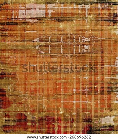 Abstract old background with rough grunge texture. With different color patterns: brown; gray; yellow (beige) - stock photo