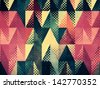 Abstract optic effect colorful triangle grunge background with dots. - stock photo