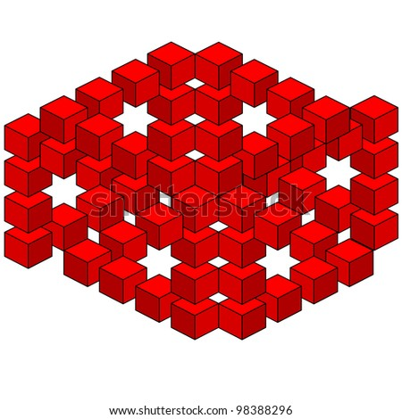 abstract optical illusion. Vector version also available in portfolio. - stock photo