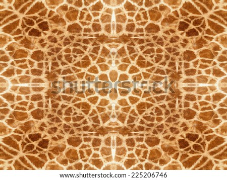 Abstract orange and white giraffe skin pattern - stock photo