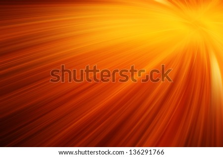 Abstract orange and yellow curves line background.