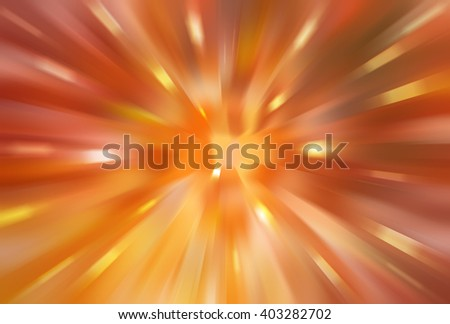 abstract orange background. fractal explosion star with gloss and lines - stock photo