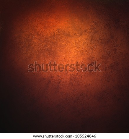 abstract orange background, old black vignette border or frame, vintage grunge background texture design, warm red color tone for autumn or fall season, for brochures, paper or wallpaper, orange wall - stock photo