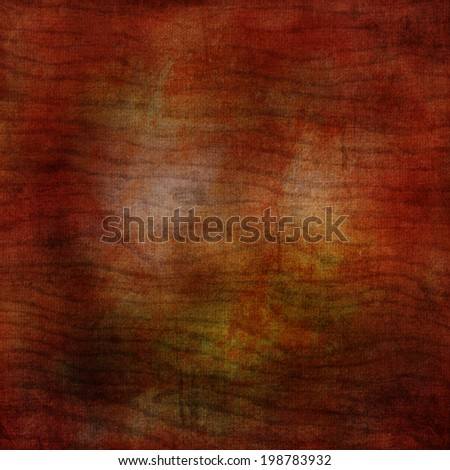 abstract orange background or brown background with bright center background with vintage grunge background texture gradient design or Halloween or warm autumn background invitation or web template  - stock photo