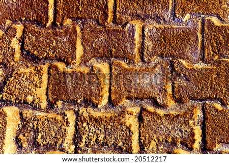 Abstract orange brick background. Textured surface.