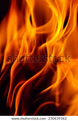 Abstract orange fiery wave background.