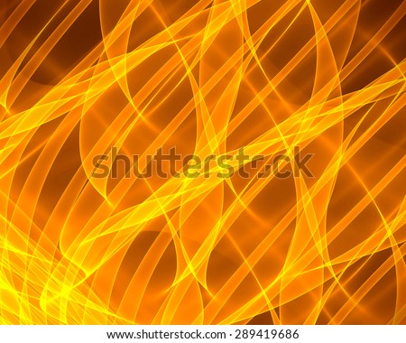 Abstract orange glow Twist background with fire flow - stock photo