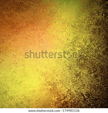 abstract orange gold copper background design, rough black border with streaks of bright paint on dark contrast black background, unique web design background, colorful brochure layout space