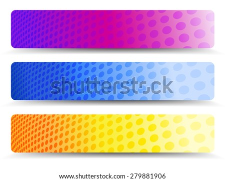 Abstract Orange Purple and Blue Web Banners Background - Raster Version - stock photo