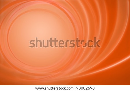 Abstract orange red background power energy storm circles with room for some content in the calm center