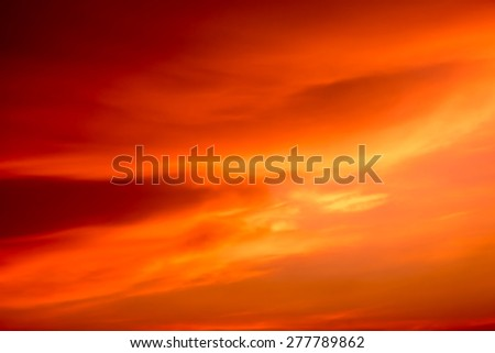 Abstract orange sky