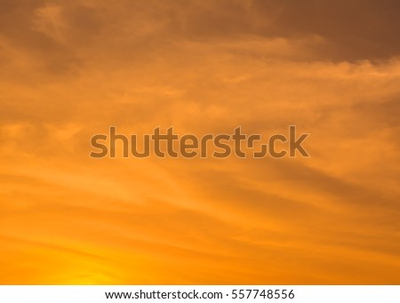 Abstract orange sky at sunset
