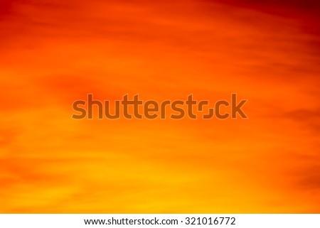 Abstract orange sky,soft focus - stock photo