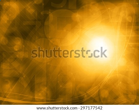 abstract orange technology background texture - stock photo