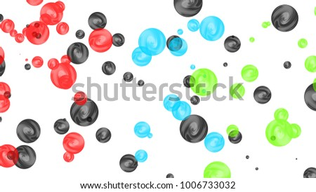 Abstract orbs background